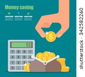 money saving concept. vector... | Shutterstock .eps vector #342582260