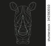 Rhino Head Geometric Lines...
