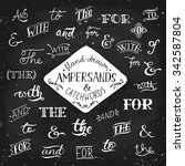 ampersands and catchwords.... | Shutterstock .eps vector #342587804