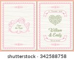 save the date postcard  wedding ... | Shutterstock .eps vector #342588758