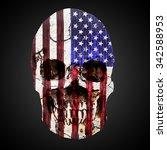 model of the human skull wrap... | Shutterstock . vector #342588953