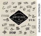 hand drawn ampersands and... | Shutterstock .eps vector #342589634