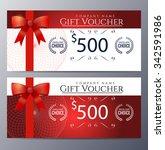 gift voucher template with...   Shutterstock .eps vector #342591986