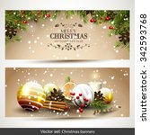 vector set of two christmas...