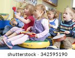 group of pre school children... | Shutterstock . vector #342595190