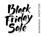black friday sale calligraphy.... | Shutterstock .eps vector #342597230