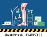 design of health care concept... | Shutterstock .eps vector #342597644