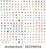 logo huge mega collection ... | Shutterstock .eps vector #342598556