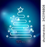holiday blue abstract... | Shutterstock .eps vector #342598808