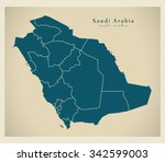 modern map   saudi arabia with... | Shutterstock .eps vector #342599003
