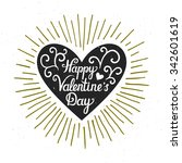 vector valentine card with... | Shutterstock .eps vector #342601619