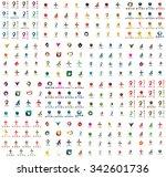 logo huge mega collection ... | Shutterstock . vector #342601736