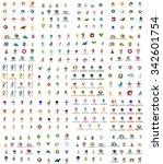 logo huge mega collection ...   Shutterstock . vector #342601754