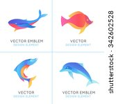 Vector Set Of Abstract Emblems...