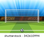 vector illustration of soccer... | Shutterstock .eps vector #342610994