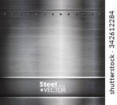 metal abstract background.... | Shutterstock .eps vector #342612284