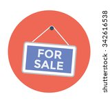 For Sale Sign Colored Vector...