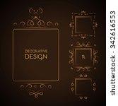 elegant page decoration element ... | Shutterstock .eps vector #342616553
