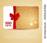 gold gift coupon  gift card.... | Shutterstock .eps vector #342616586