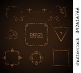 elegant page decoration element ... | Shutterstock .eps vector #342616766