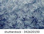 Frosty Pattern On Glass Made O...
