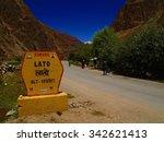 view at lato village  ladakh... | Shutterstock . vector #342621413