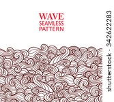 waves seamless border pattern.... | Shutterstock .eps vector #342622283