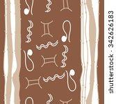 seamless    pattern  of zodiac  ... | Shutterstock .eps vector #342626183