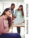 young creative team working... | Shutterstock . vector #342627020