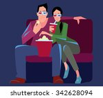 Постер, плакат: Couple watching a movie