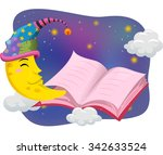 illustration of the moon... | Shutterstock .eps vector #342633524