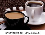 hot aromatic coffee | Shutterstock . vector #34263616
