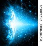 best internet concept of global ... | Shutterstock . vector #342638603