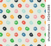 hand drawn polka dot texture.... | Shutterstock .eps vector #342641888