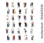 team over white business... | Shutterstock . vector #342645230