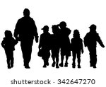 families people with little... | Shutterstock .eps vector #342647270