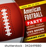 american football party. vector ... | Shutterstock .eps vector #342649880