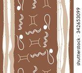seamless    pattern  of zodiac  ... | Shutterstock . vector #342653099