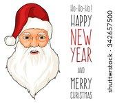 santa claus smile. great vector ... | Shutterstock .eps vector #342657500