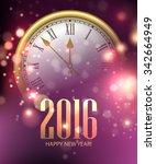 vector 2016 happy new year... | Shutterstock .eps vector #342664949