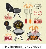 barbecue grill | Shutterstock .eps vector #342670934