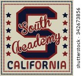 south academy california vector ... | Shutterstock .eps vector #342673856