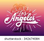 vintage hand lettered textured... | Shutterstock .eps vector #342674084