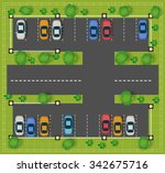 car parking on the road view... | Shutterstock . vector #342675716
