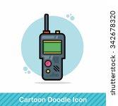 walkie doodle | Shutterstock .eps vector #342678320