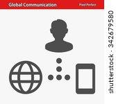 global communication icon.... | Shutterstock .eps vector #342679580
