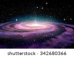 Spiral Galaxy In Deep Spcae  3d ...