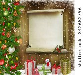 christmas congratulatory... | Shutterstock . vector #342682796