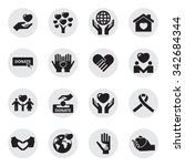charity and love icons | Shutterstock .eps vector #342684344