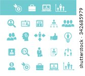 strategy  icons  signs vector... | Shutterstock .eps vector #342685979